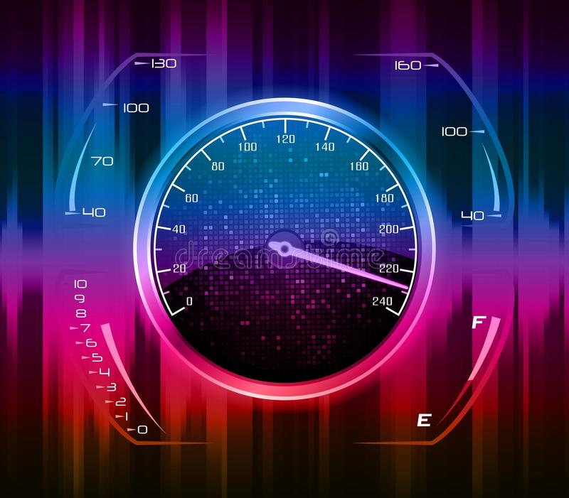 Fond abstrait d'indicateur de vitesse illustration libre de droits