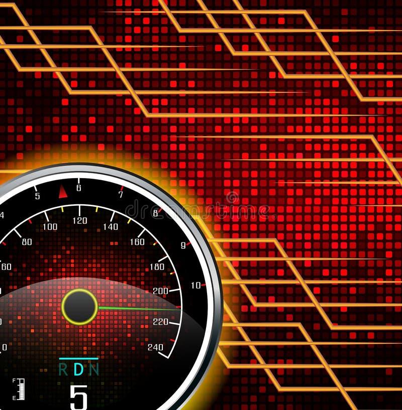 Fond abstrait d'indicateur de vitesse illustration de vecteur