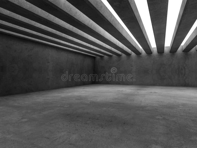 Fond abstrait d'intérieur d'architecture 3d illustration stock