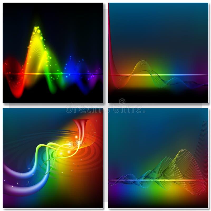 Fond abstrait d'onde d'arc-en-ciel illustration de vecteur