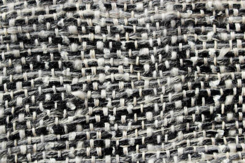Fond abstrait d'un idéal tissé d'écharpe pour le fond dans gris et blanc photographie stock