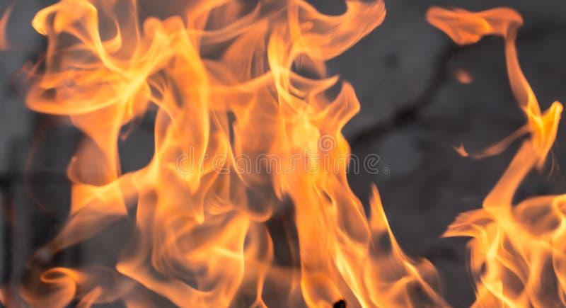 Fond abstrait d'une flamme du feu photo stock