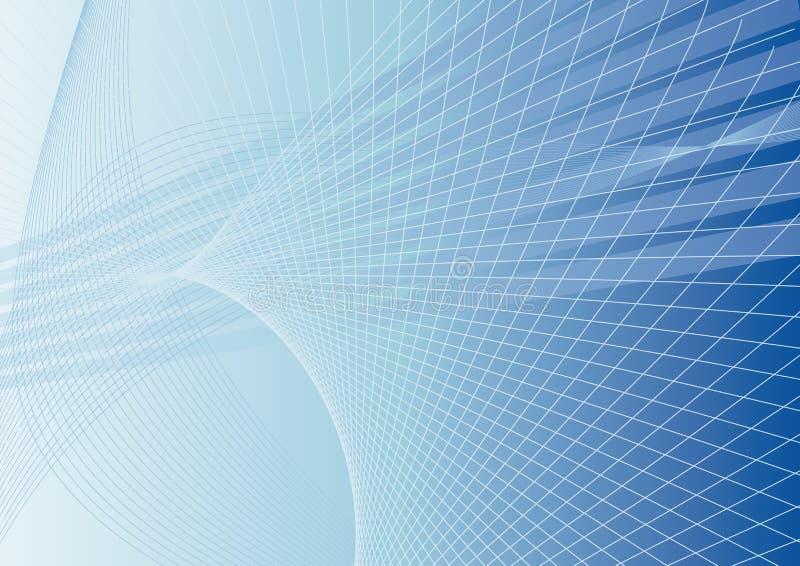 Fond abstrait dans le bleu illustration de vecteur