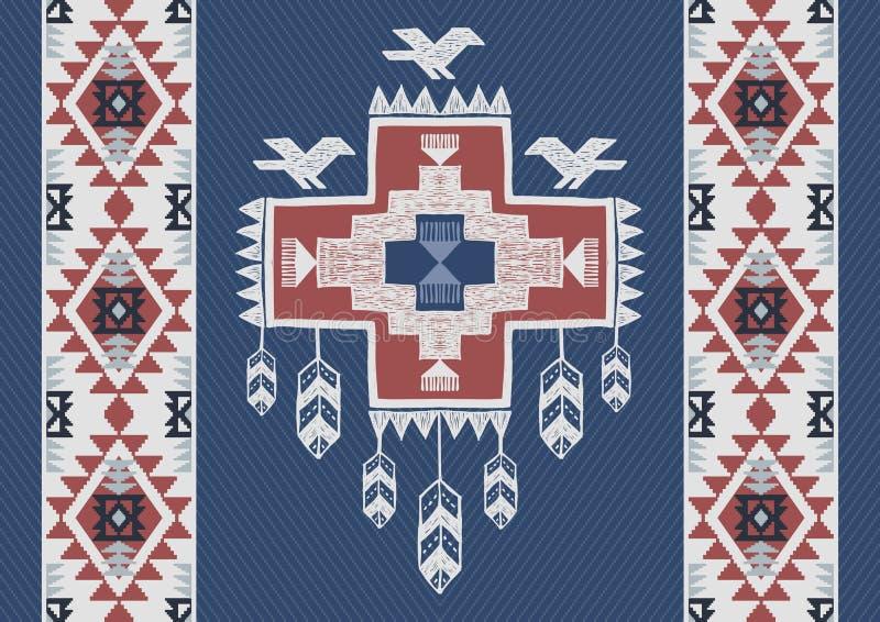 Fond abstrait dans le style aztèque illustration stock