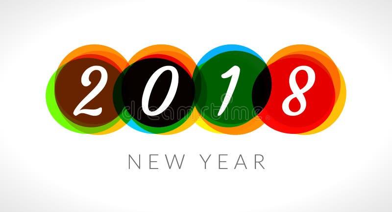 Fond abstrait de bannière de la bonne année 2018 2018 célébrations de salutation illustration libre de droits