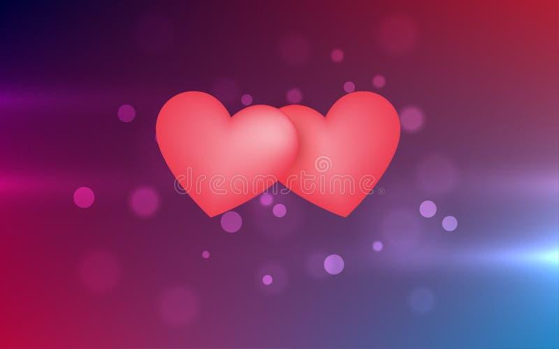 Fond abstrait de belle lumière de rose illustration de vecteur