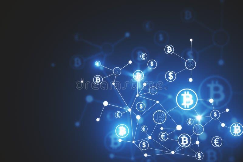Fond abstrait de bitcoin illustration libre de droits