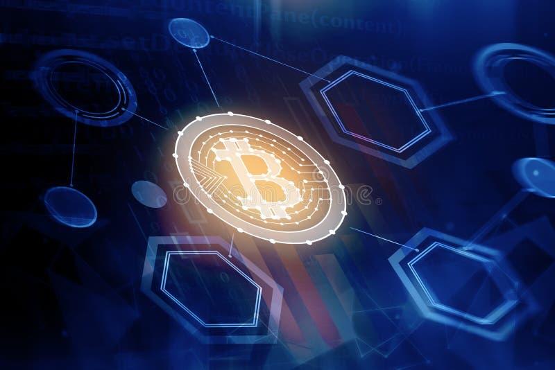 Fond abstrait de bitcoin photos stock
