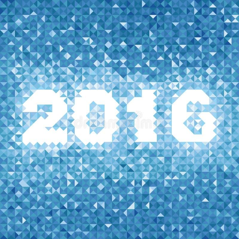 Fond 2016 abstrait de bleu images stock