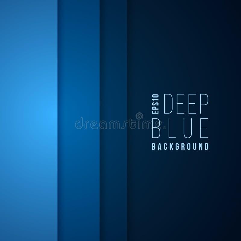 Fond abstrait de bleu de calibre de vecteur de technologie Conception d'entreprise de disposition illustration libre de droits
