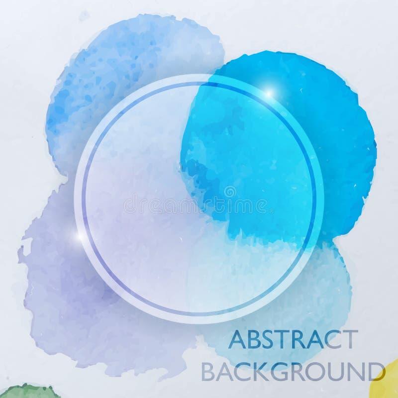 Fond abstrait de bleu d'aquarelle illustration de vecteur