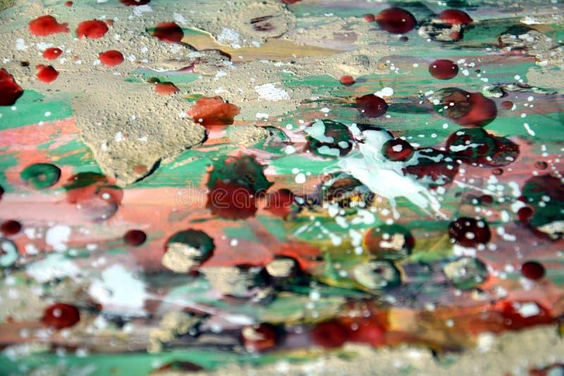 Fond abstrait de boue, de cire, d'aquarelle et de peinture photos libres de droits