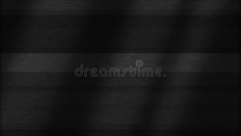 Fond abstrait de bruit de TV avec l'effet de problème, boucle sans couture animation Fond noir avec la lumière débordante de tach illustration libre de droits