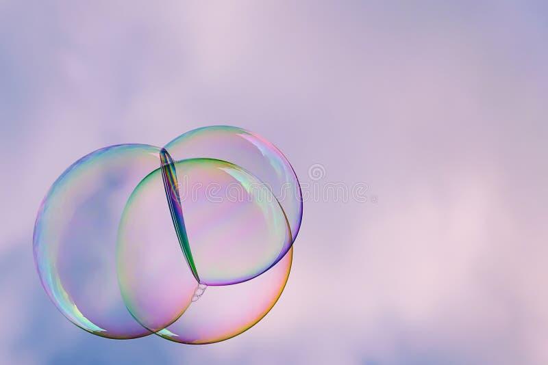 Fond abstrait de bulles de savon photo stock