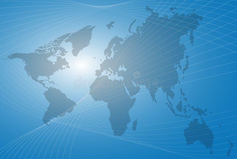 Fond abstrait de carte du monde illustration de vecteur