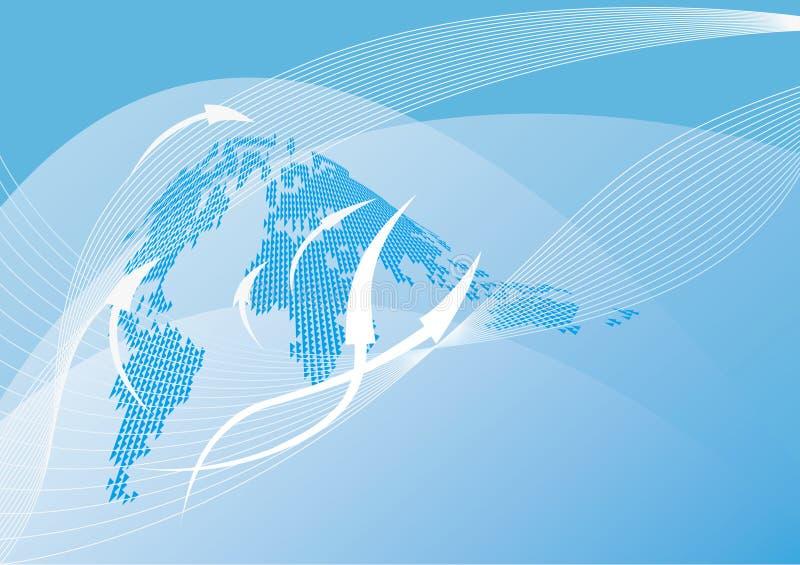 Fond abstrait de carte du monde illustration libre de droits