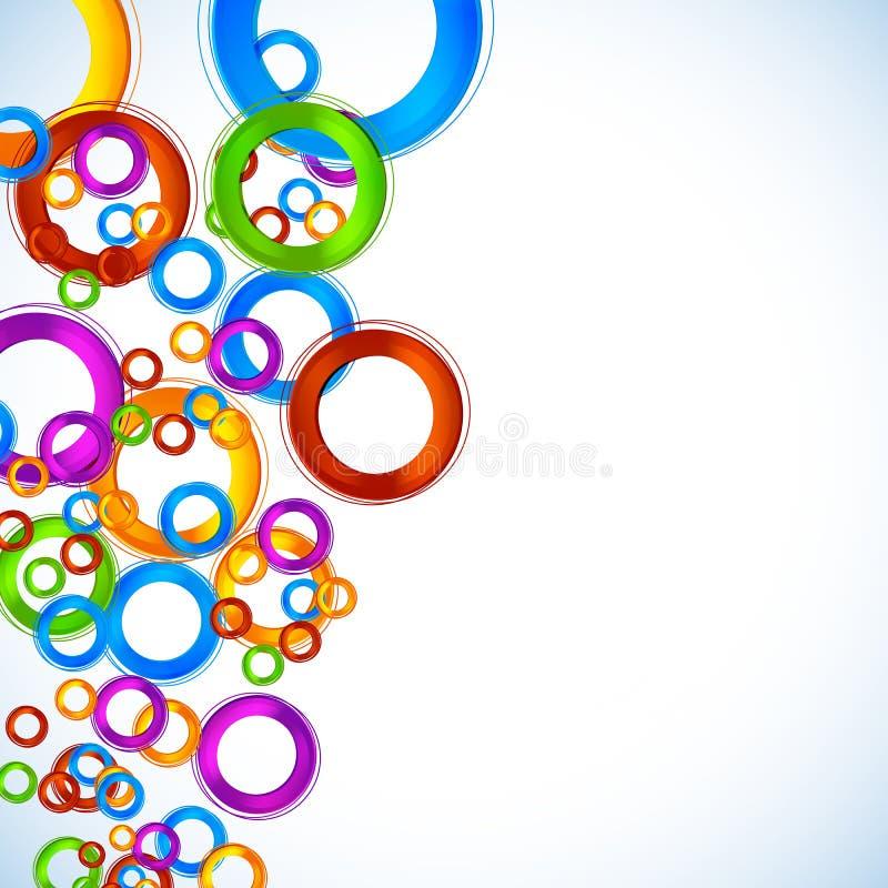Fond abstrait de cercle de couleur illustration de vecteur