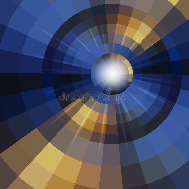 Fond abstrait de cercle de mosaïque illustration de vecteur