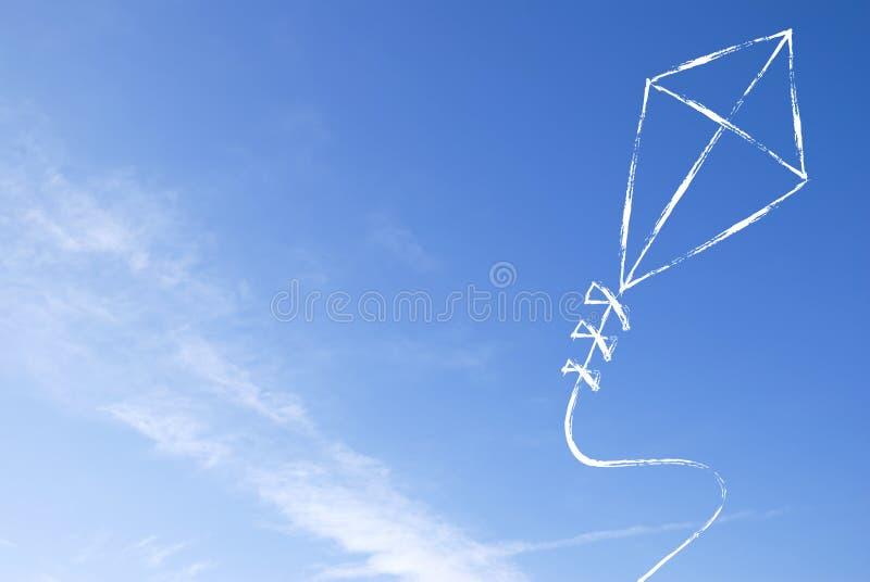 Fond abstrait de cerf-volant image libre de droits