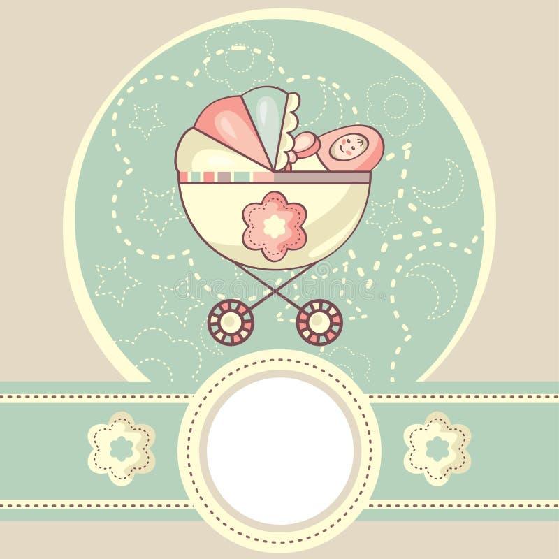 Fond abstrait de chéri illustration stock