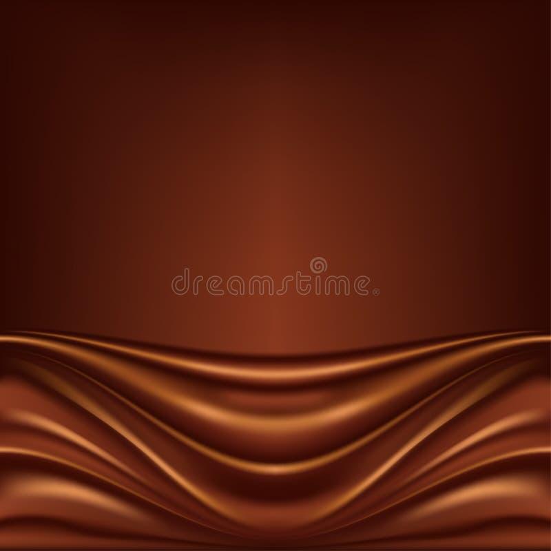 Fond abstrait de chocolat illustration libre de droits
