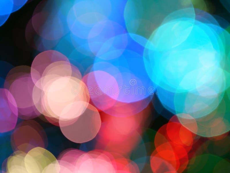 Fond abstrait de clignotement de tache floue de lumières images libres de droits