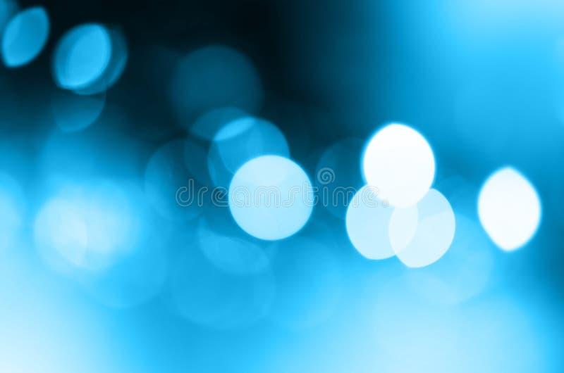 Fond abstrait de clignotement de tache floue de lumières de ville Orientation molle image libre de droits