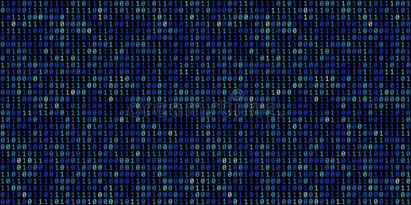 Fond abstrait de code binaire de technologie Données binaires a de Digital illustration de vecteur