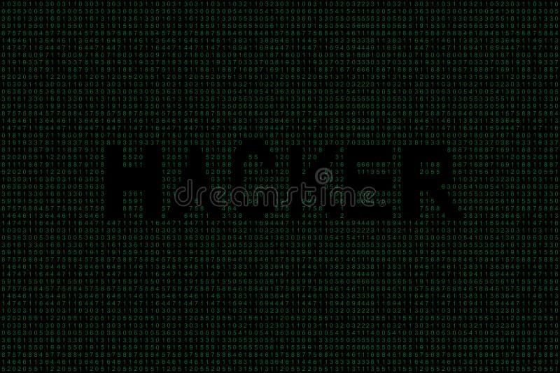 Fond abstrait de code binaire de technologie Données binaires de Digital et concept de pirate informatique illustration libre de droits