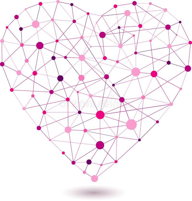 Fond abstrait de coeur, vecteur illustration de vecteur