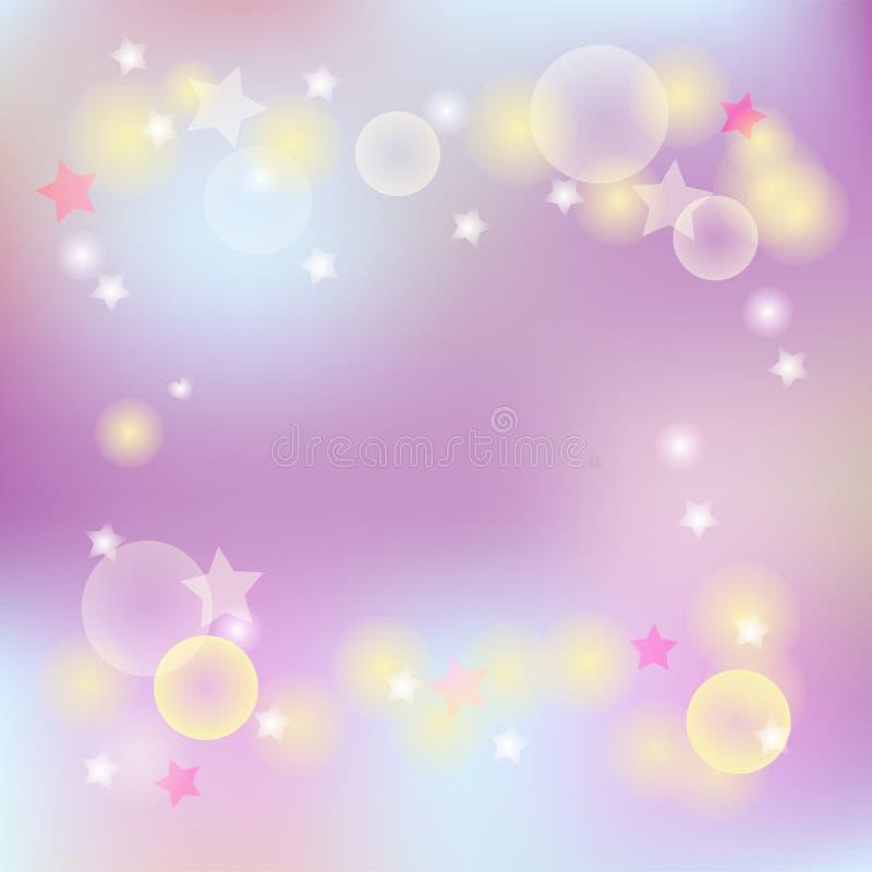 Fond abstrait de colores roses et bleus illustration libre de droits