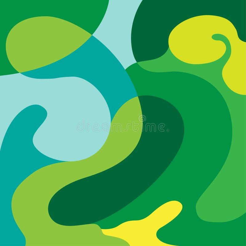 Fond abstrait de composition en vert de griffonnage illustration libre de droits