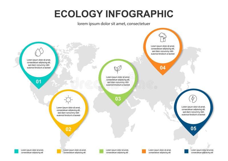 Fond abstrait de concept d'?cologie Illustration infographic de vecteur illustration libre de droits