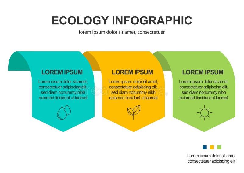 Fond abstrait de concept d'?cologie Illustration infographic de vecteur illustration de vecteur