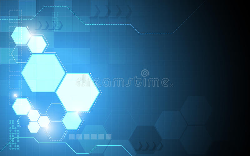 Fond abstrait de concept de technologie de modèle d'hexagone de vecteur illustration de vecteur