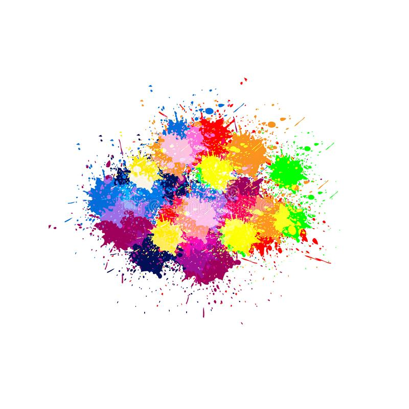 Fond abstrait de conception de couleur de peinture de vecteur Conception de vecteur d'illustration illustration libre de droits