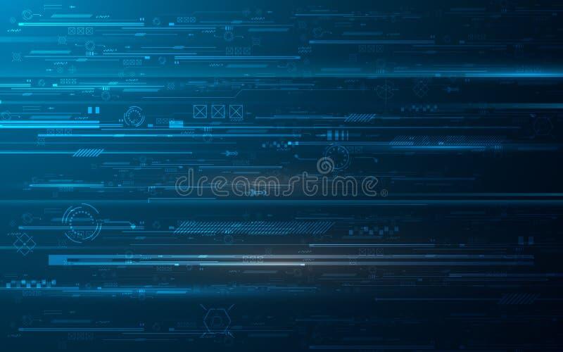 Fond abstrait de conception de l'avant-projet d'innovation de chiffres de technologie de hud illustration de vecteur