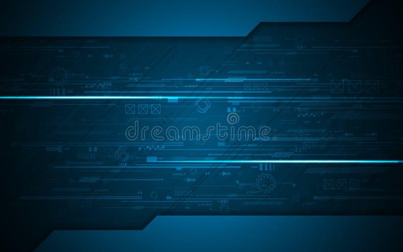 Fond abstrait de conception de l'avant-projet d'innovation de technologie de modèle de texture de circuit numérique illustration de vecteur