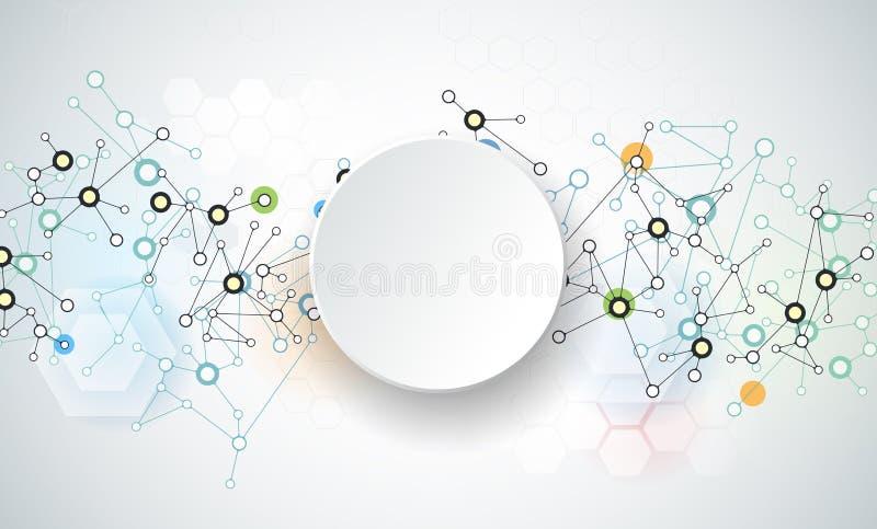 Fond abstrait de connexion de technologie illustration libre de droits