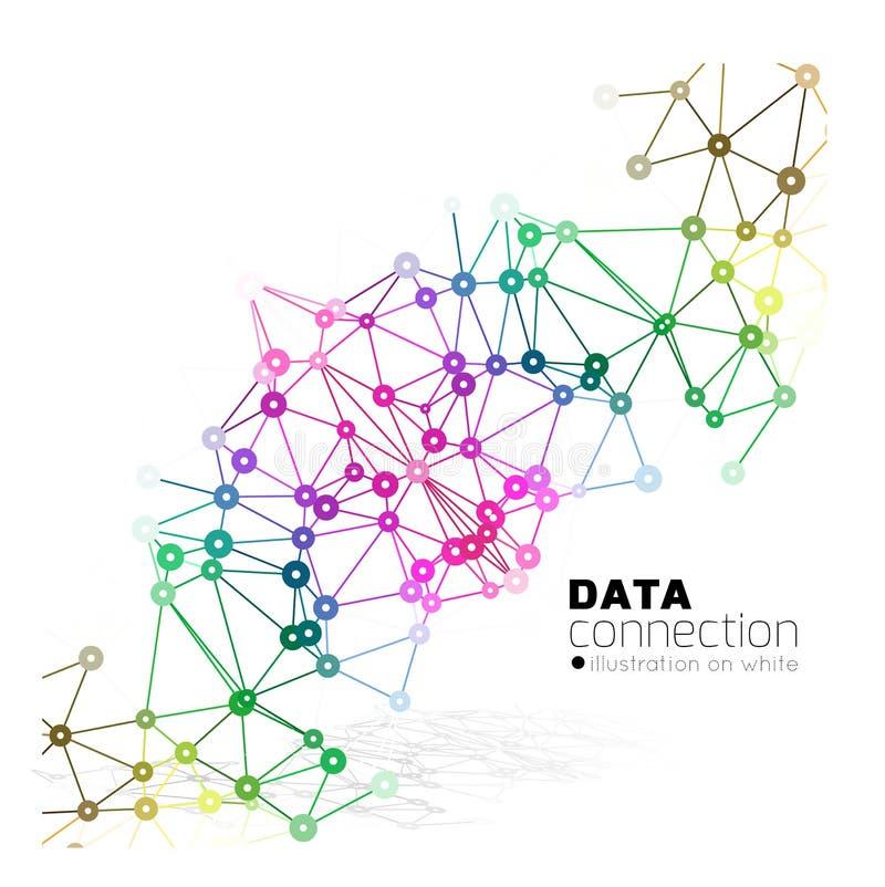 Fond abstrait de connexion réseau illustration libre de droits