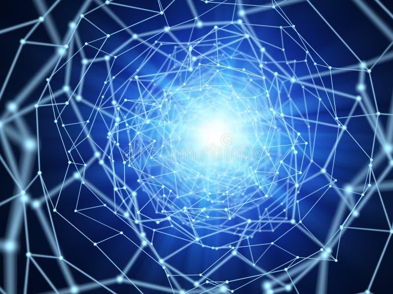 Fond abstrait de connexions réseau illustration de vecteur