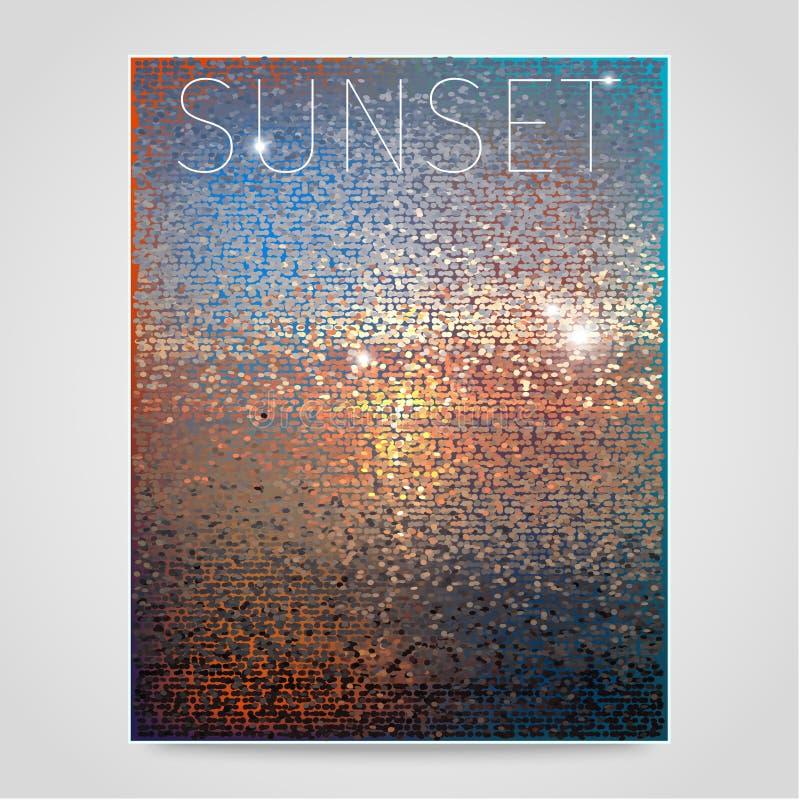 Fond abstrait de coucher du soleil illustration de vecteur