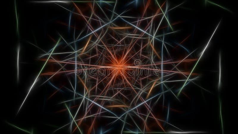Fond abstrait de couleur avec des effets de fractale Série en soie de symétrie de fractale illustration libre de droits