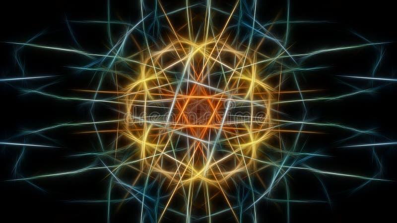 Fond abstrait de couleur avec des effets de fractale Série en soie de symétrie de fractale illustration de vecteur