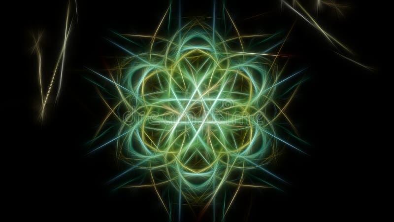 Fond abstrait de couleur avec des effets de fractale Série en soie de symétrie de fractale illustration stock