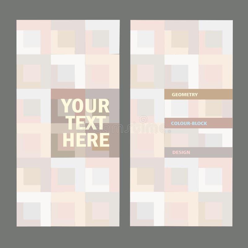 Fond abstrait de couleur-bloc avec l'endroit pour le texte illustration libre de droits