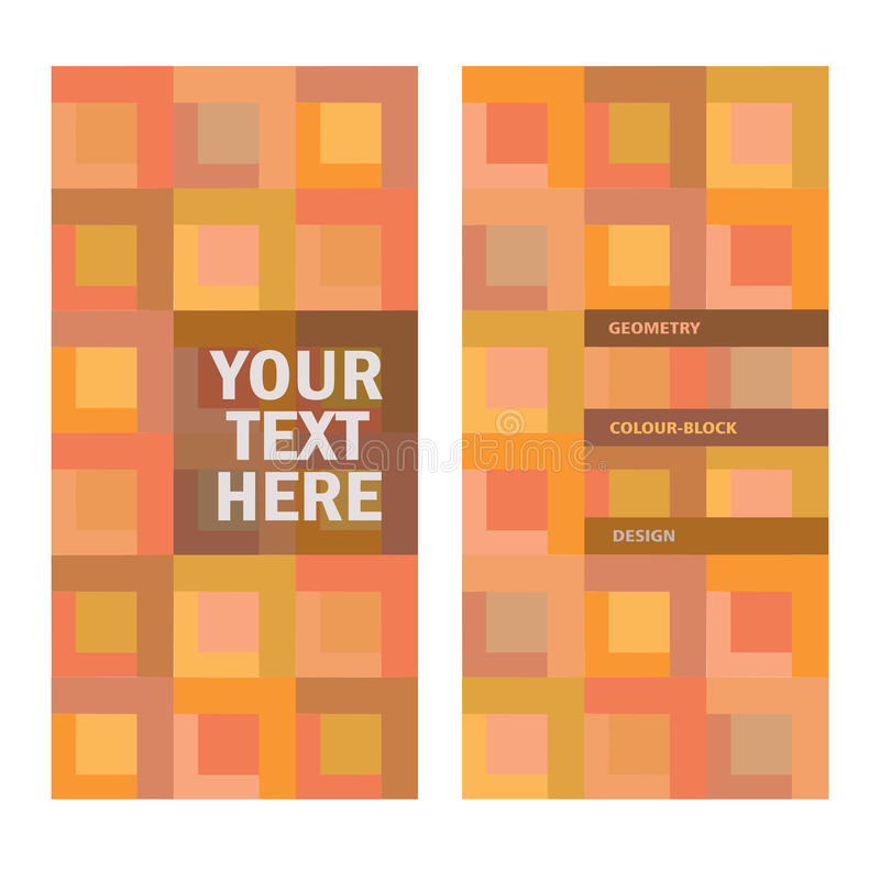 Fond abstrait de couleur-bloc avec l'endroit pour le texte illustration de vecteur