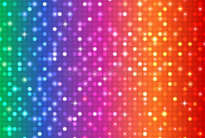 Fond abstrait de couleur d'arc-en-ciel illustration libre de droits