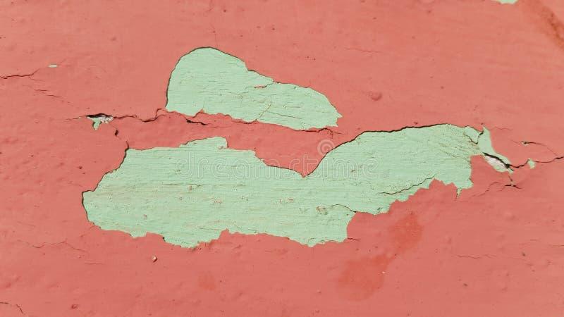 fond abstrait de couleur deux de la surface peinte endommagée photos stock