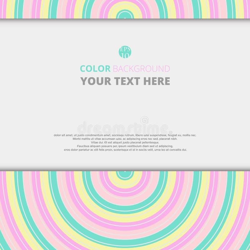 Fond abstrait de couleur douce avec l'espace libre pour placer le fond des textes illustration libre de droits